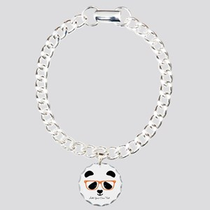 Cute Panda with Orange G Charm Bracelet, One Charm