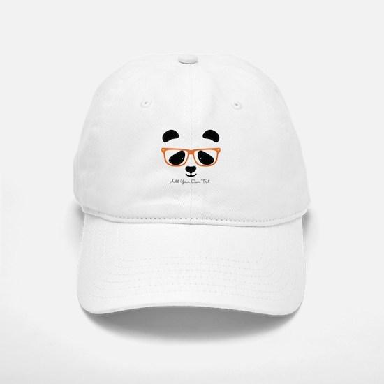 Cute Panda with Orange Glasses Cap