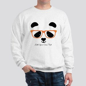 Cute Panda with Orange Glasses Sweatshirt