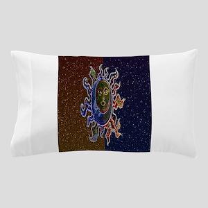 Neon Sun Moon Pillow Case