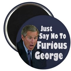 Just Say No to Furious George (Magnet)