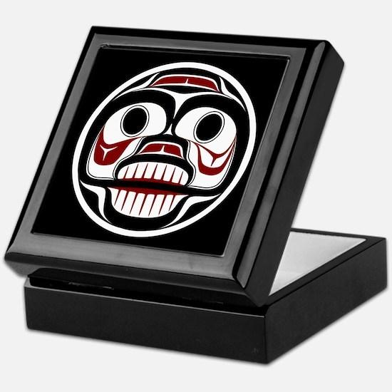 Northwest Pacific coast Haida Weeping skull Keepsa