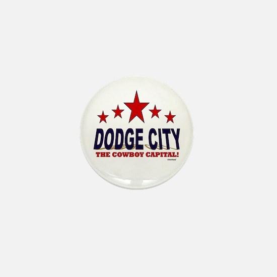 Dodge City The Cowboy Capital Mini Button