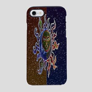 Neon Sun Moon iPhone 7 Tough Case