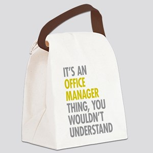 Office Manager Thing Canvas Lunch Bag