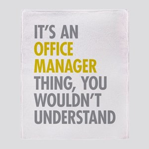 Office Manager Thing Throw Blanket