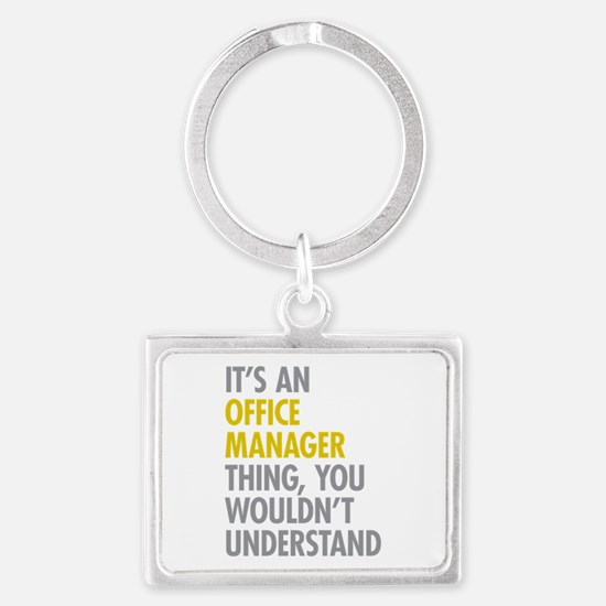 Office Manager Thing Landscape Keychain