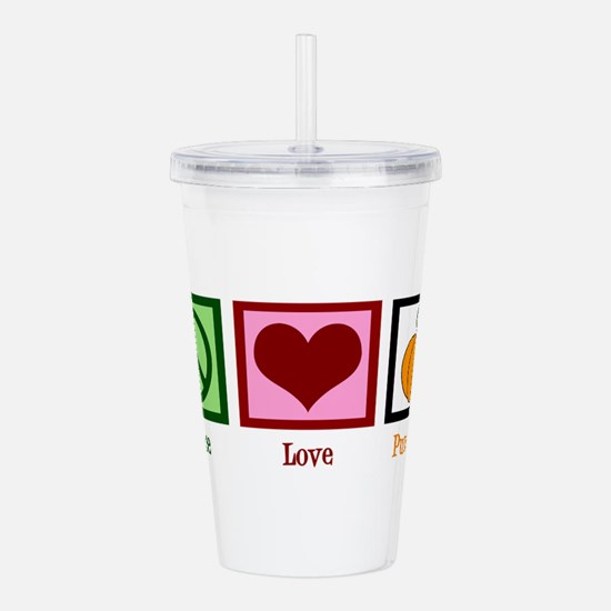 Peace Love Pumpkin Acrylic Double-wall Tumbler