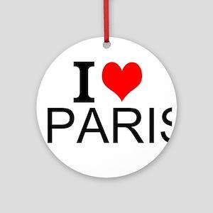 I Love Paris Ornament (Round)