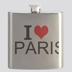 I Love Paris Flask