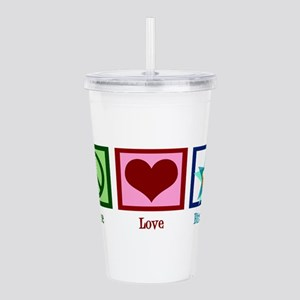 Peace Love Birthday Acrylic Double-wall Tumbler