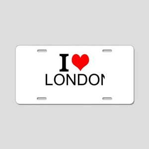 I Love London Aluminum License Plate