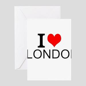 I Love London Greeting Cards