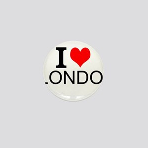 I Love London Mini Button