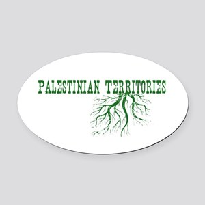 Palestinian Roots Oval Car Magnet