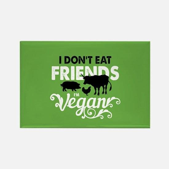 Vegan Friends Rectangle Magnet