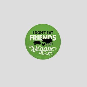 Vegan Friends Mini Button