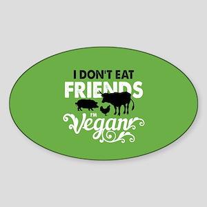 Vegan Friends Sticker (Oval)
