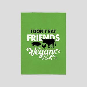 Vegan Friends 5'x7'Area Rug