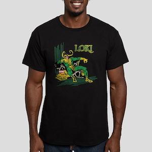 Marvel Comics Loki Ret Men's Fitted T-Shirt (dark)