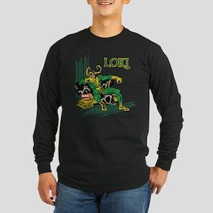 Marvel Comics Loki Retro Long Sleeve Dark T-Shirt