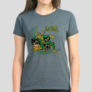 Marvel Comics Loki Retro Women's Dark T-Shirt
