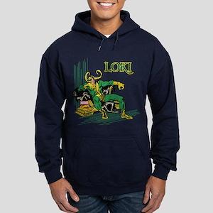 Marvel Comics Loki Retro Hoodie (dark)