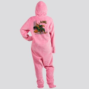 Marvel Comics Loki Retro Footed Pajamas