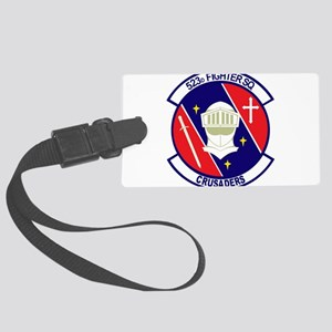 523d_fighter_sq Large Luggage Tag