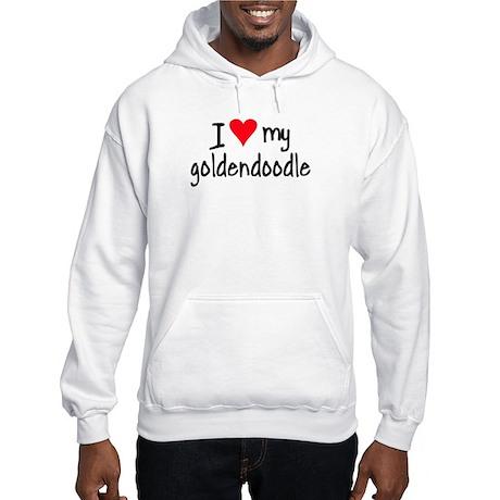 I LOVE MY Goldendoodle Hooded Sweatshirt
