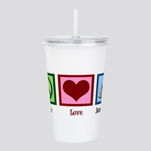 Peace Love Accounting Acrylic Double-wall Tumbler