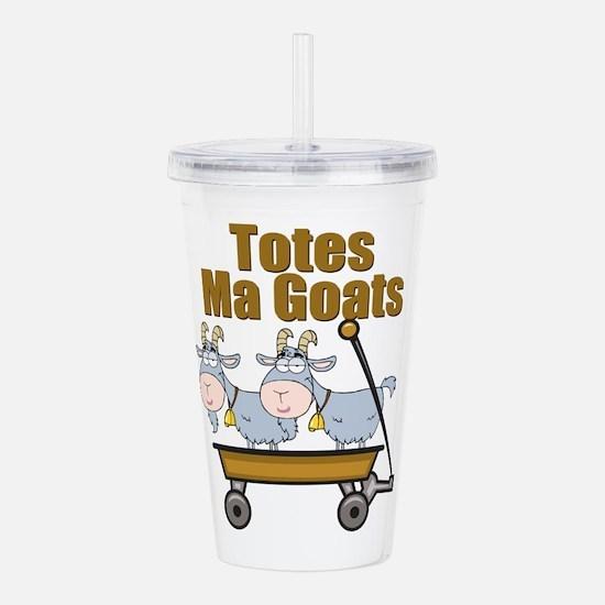 Totes Ma Goats Acrylic Double-wall Tumbler