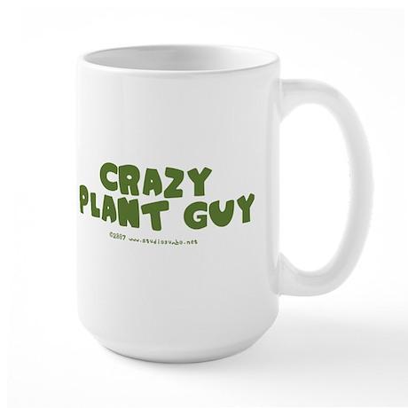Crazy Plant Guy Large Mug