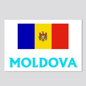 Moldova Flag Classic Blue Postcards (Package of 8)