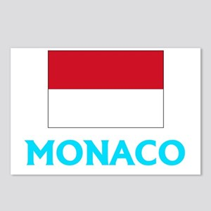 Monaco Flag Classic Blue Postcards (Package of 8)