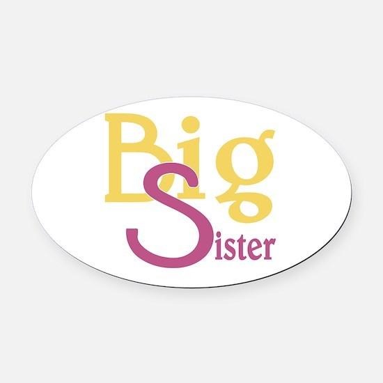 Big Sister Stylish Sibling Design Oval Car Magnet