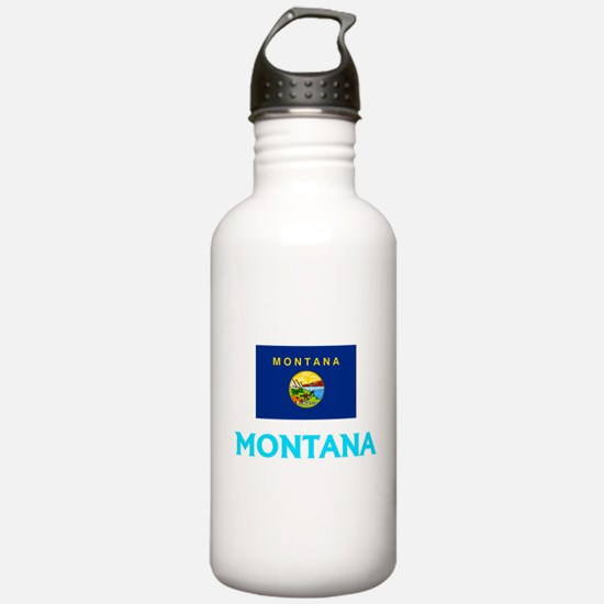 Montana Flag Classic B Water Bottle