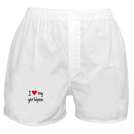 I LOVE MY Yorkipoo Boxer Shorts