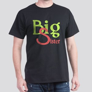 Big Sister Stylish Sibling Design Dark T-Shirt