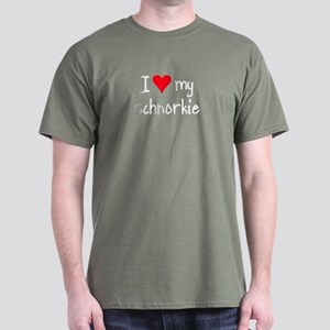 I LOVE MY Schnorkie Dark T-Shirt