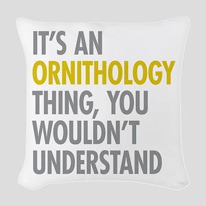 Ornithology Thing Woven Throw Pillow