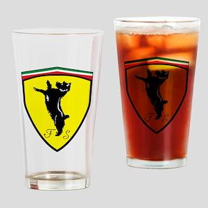 Race Dog Drinking Glass
