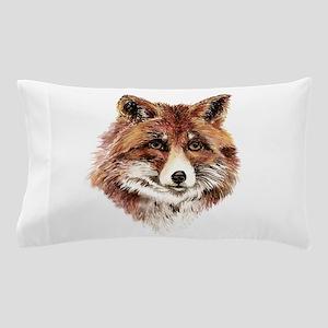 Cute Watercolor Red Fox Animal Nature Art Pillow C