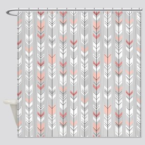 Feathered Flights On Grey Shower Curtain