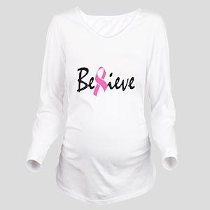 Believe Long Sleeve Maternity T-Shirt