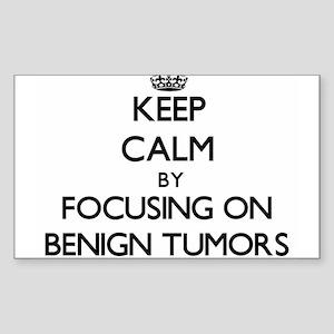 Keep Calm by focusing on Benign Tumors Sticker