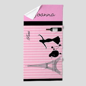 Personalized Ooo La La! Beach Towel