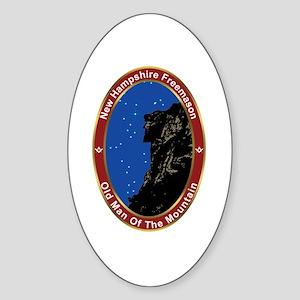 New Hampshire Freemasons Oval Sticker