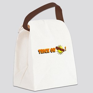 Halloween Trick or Treat Bacon! Canvas Lunch Bag