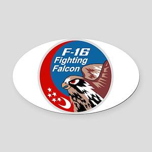 f16_Singapore Oval Car Magnet